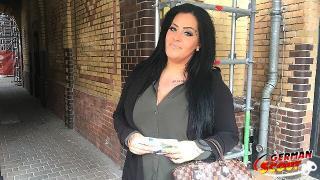 GERMAN SCOUT Ashley mit Mega Titten bei Casting gefickt
