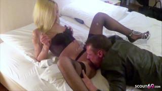 Deutsches junges Paar beim Amateur Sex gefilmt