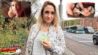 GERMAN SCOUT – Gina bei Straßen Casting zur Hure gemacht und gefickt