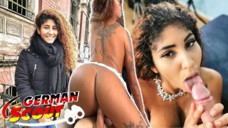 GERMAN SCOUT – Geiles Latina Teen bei Straßen Casting für Geld gefickt