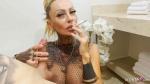 Deutsche MILF Tattoo Hure Kada Love raucht beim BJ für jungen Freier